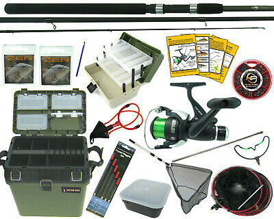 Complete Starter Coarse Float Fishing Kit Set. 10' Carbon Rod, Reel, Seat Box • 92.99£