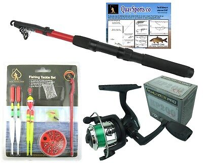Junior Fishing Set With Rod Reel & Tackle Set • 14.99£
