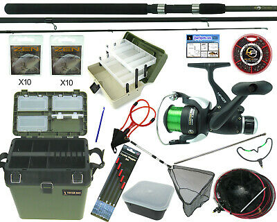 Complete Starter Coarse Float Fishing Kit Set. 11' Carbon Rod, Reel, Seat Box • 94.99£