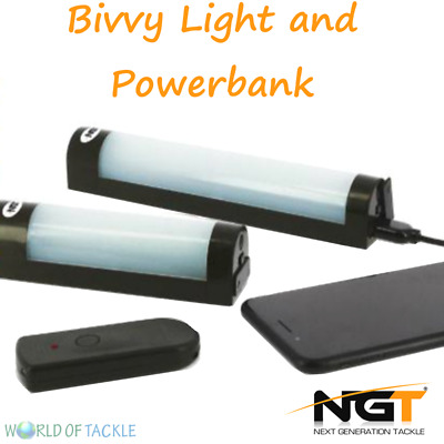 NGT Fishing Bivvy Light + Power Bank Function For Phone Small Or Large • 19.75£