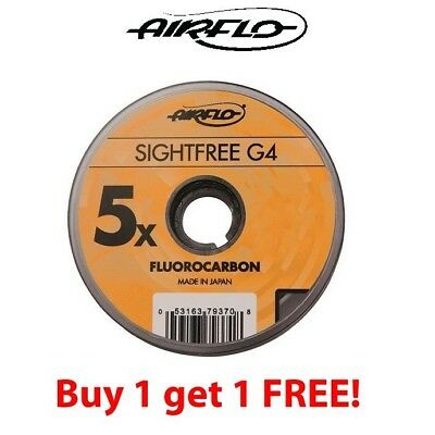 Airflo G4 Sightfree Flurocarbon 100m (Buy One Get One Free) ** 2020 Stocks *** • 19.99£