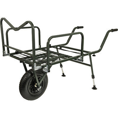 TF Gear Trail Blazer Carp Fishing Wheel Barrow Equipment Bivvy Rods Trolley TFG • 99.99£