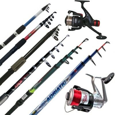 Telescopic Holiday Fishing Rod Reel Combo Beach Pier Sea 6ft 7ft 8ft 10ft 12ft  • 27.45£