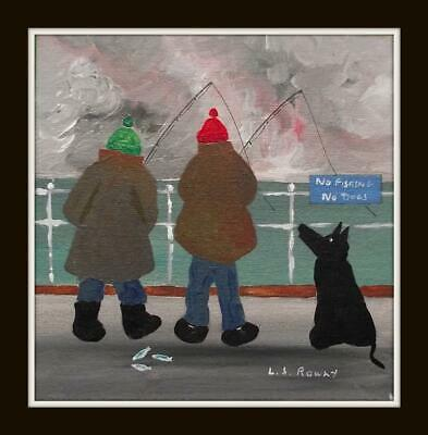 NAE GLESKA DUGs NAE FISHING  Original Scottish Oil Painting : L S ROWLY • 175£