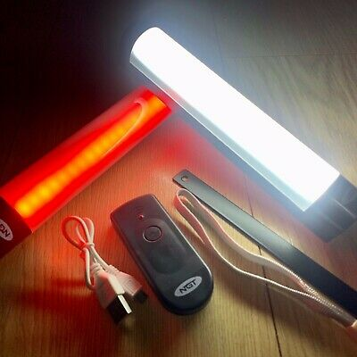 NGT Bivvy Light Powerbank With Remote Control Carp Fishing RED Night Lite LARGE • 21.95£