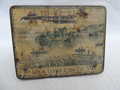 Vintage Wheatley Loch Leven Eyed Fly Box + 24 Dry Trout Flies. • 24.99£