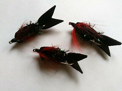 Black Beetle Jelly Fly Fishing Wet Trout Flies Trout Lures • 4.99£