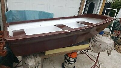 Fibreglass Boat Dinghy, Rowing, Transom Outboard Mounting  • 79£