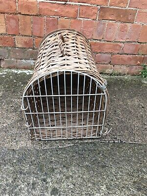 Vintage Wicker Car Animal Basket Pet Carrier • 15.99£