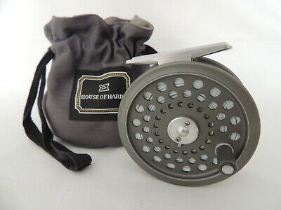 Hardy JLH Ultralite #6 Fly Fishing Reel + Makers Drawstring Pouch & Hardy Line. • 154.99£
