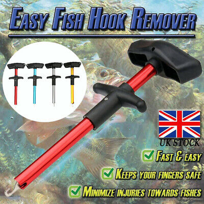 Easy Fish Hook Remover T-Handle Extractor Detacher Fishing Tackle Portable Tool • 3.99£