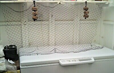 2 X Three Vintage Cork Floats On A Rope & A FREE Hank Of Old Cotton Fishing Net • 19.99£