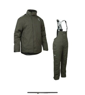 Fox Carp Green & Silver Winter Suit New Version Carp Fishing Thermal Suit 2xl • 81£