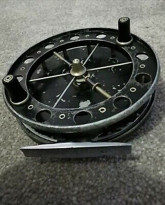 Allcocks Match Aerial 4 1/2 Inch Centrepin Fishing Reel. Classic Trotting Reel.  • 125£