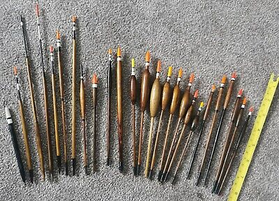 Vintage Avon, Stick, Balsa, Waggler Fishing Floats Bobbers Ultra, Reflecta X 25 • 17£