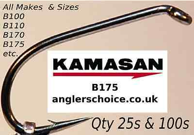 Kamasan Trout Hooks For Bait And Fly Tying 25pk Or 100pk All Types B100,B175 Etc • 3.50£