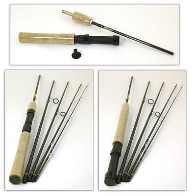 Bison 5 Section Travel Fly / Spinning Rod 8' #4/6 Free Uk Delivery • 24.99£