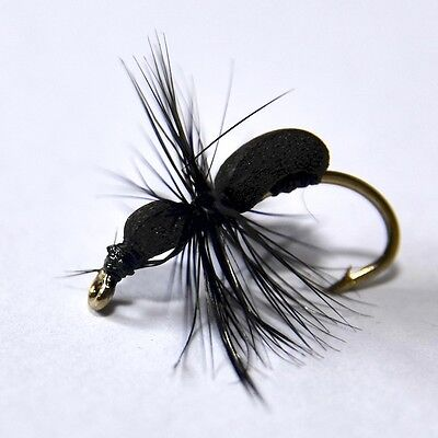 BLACK FOAM ANT Dry Fly Trout & Grayling Fly Fishing Flies By Dragonflies         • 3.05£