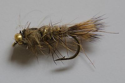 GOLDHEAD GOLD RIBBED HARES EAR NYMPH Wet Trout Fishing Flies Various Options   • 3.83£