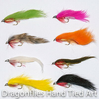 8 Classic Zonker Streamers Fly Fishing Trout & Grayling Flies 8 Colours   • 4.45£