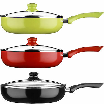 New Red/Black/Green Ecocook Non Stick Frying Pan Frypan White Ceramic Coating • 20.99£