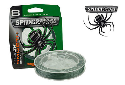 Spiderwire Stealth Smooth Braid Moss Green 150m & 300m Spools - All Sizes • 14.99£