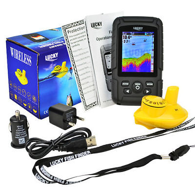 Colour Wireless Fish Finder - 100 Metre Range, Depth, Features, Carp, Coarse • 89.99£