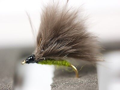 CDC F FLY OLIVE Dry Trout Fishing Flies Various Options By Dragonflies        • 6.31£