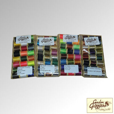 Gordon Griffiths Tinsels Wires Threads & Floss Mixed Pack X 48 Spools (SPOOL) • 25£