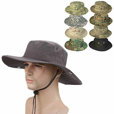 Hiking Hat Fishing Tent Beach Traveling Washable Cotton Wild Camping Wide Hem • 5.50£