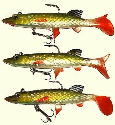3 X 35g, 5inch JACK PIKE, BIG PIKE LURES • 6.99£