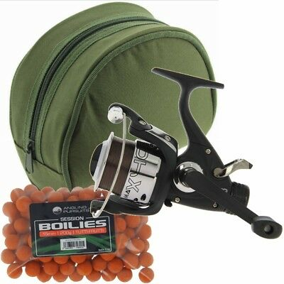 NGT Max40 Carp Fishing Reel Bait Runner Storage Case And Bag Of Boilies  • 12.05£