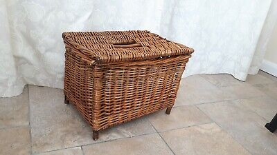 Antique Wicker Fisherman's Creel Basket For Display Or Storage • 35£