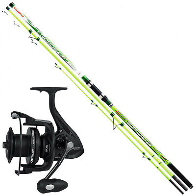 Fishing Kit Surfcasting Trabucco Canna Kronos Sea Master LC + Reel 9000 • 110.42£