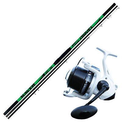 KP4120 Surfcasting Fishing Kit Rod Diavel 420 150 Gr Evo Hummer Reel • 93.42£