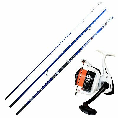 KP4241 Surfcasting Evo Fishing Kit Seabasster Reel Supreme 8000 • 84.92£
