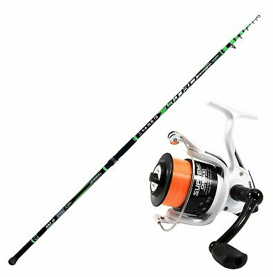 KP4239 Fishing Kit Beach Ledgering Canna Evo Litho 420 Reel Supreme 6500 • 76.42£