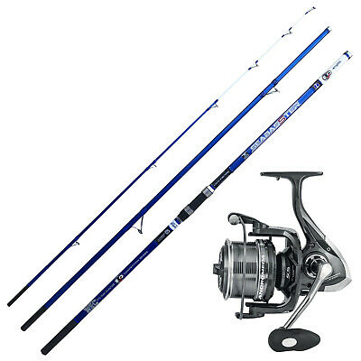 KP4311 Surfcasting Kit Fishing Rod Evo Seabasster Reel Andromeda XT • 118.92£