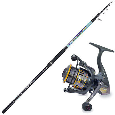KP4351 Surfcasting Fishing Kit Colmic Rod Shapt 420 Reel Exiter 6000 • 92.65£