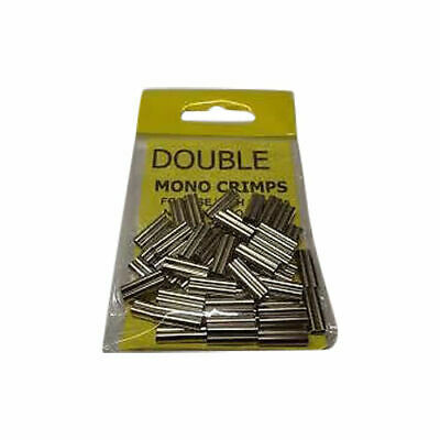 QUALITY DOUBLE MONO CRIMPS   PACK OF 50  -  100 / 150 / 200 / 250lb • 3.49£