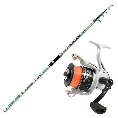KP4385 Beach Surf Kit Caster Rod Mormora 420 Evo Supreme 6500 Reel • 55.17£