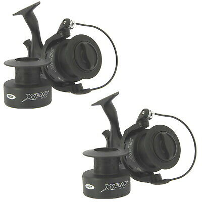 2 X Carp Fishing Reels NGT XPR 60 Black Bait Runner Freespool With Spare Spool  • 60.45£