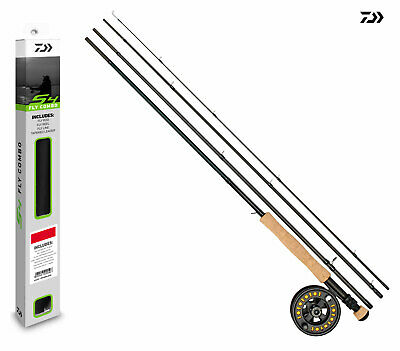 New Daiwa S4 Fly Fishing Combo - Rod/ Reel/ Tube - Loaded With Line - All Models • 69.99£