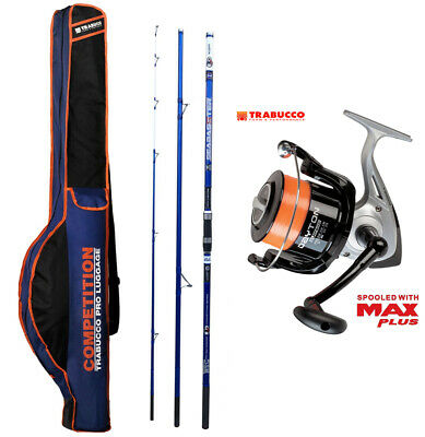 KP4242 Surf Fishing Kit Evo Seabasster Rod Reel Trabucco Sheath • 92.65£