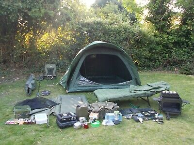 Starter Kit Carp Fishing Set Up Job Lot Rods Reels Alarms Bait Tackle Etc • 510£