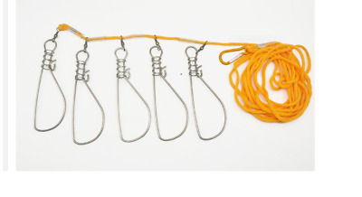 Tropical Sea Saltwater Fishing Rope Cord Type Fish Stringer Keeper - 5 Buckles  • 11.99£