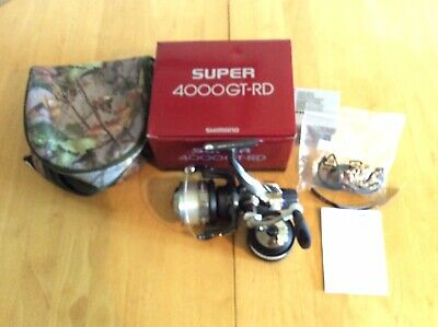 SHIMANO SUPER GT-RD 4000 REEL + LINE / POUCH - ALL UNUSED 2 Of 2 IDENTICAL REELS • 64£