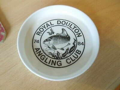 Rare Royal Doulton Angling Club Dish - 10 Year Commemorative Dish 1984 • 16£