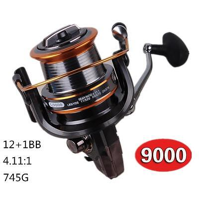 13BB Long Shot Saltwater Spinning Fishing Reel Metal Spool Surf Casting Hot • 34.88£