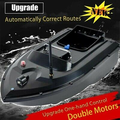 RC Fishing Bait Boat & 2 Motors Fish Finder 500M Wireless Single Hand Control UK • 82.99£